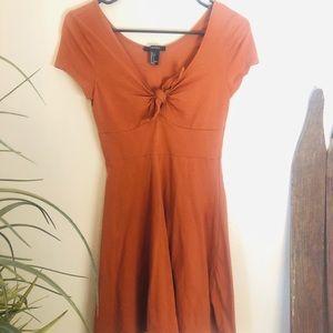 NWOT orange tie dress
